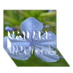 Blue Water Droplets YOU ARE INVITED 3D Greeting Card (7x5)