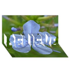 Blue Water Droplets BELIEVE 3D Greeting Card (8x4)
