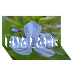 Blue Water Droplets ENGAGED 3D Greeting Card (8x4)