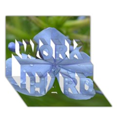 Blue Water Droplets Work Hard 3d Greeting Card (7x5)