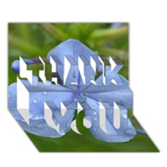 Blue Water Droplets THANK YOU 3D Greeting Card (7x5)