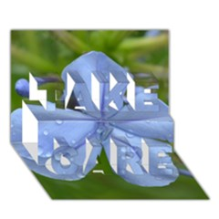 Blue Water Droplets Take Care 3d Greeting Card (7x5)