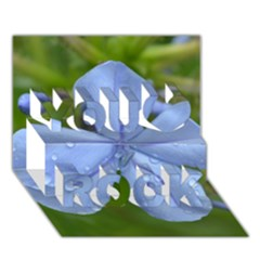 Blue Water Droplets You Rock 3D Greeting Card (7x5)
