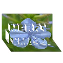 Blue Water Droplets Merry Xmas 3d Greeting Card (8x4)