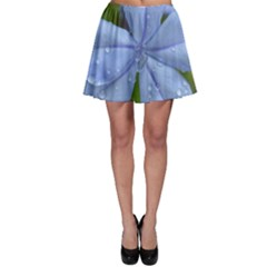 Blue Water Droplets Skater Skirts