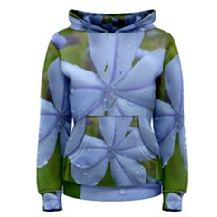 Blue Water Droplets Women s Pullover Hoodies