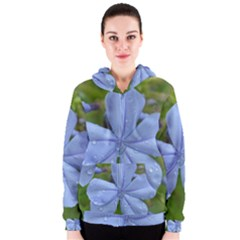 Blue Water Droplets Women s Zipper Hoodies