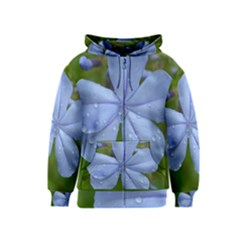 Blue Water Droplets Kids Zipper Hoodies
