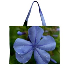 Blue Water Droplets Zipper Tiny Tote Bags