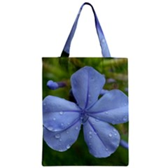 Blue Water Droplets Zipper Classic Tote Bags