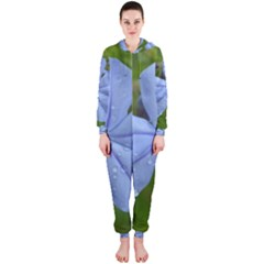 Blue Water Droplets Hooded Jumpsuit (Ladies)