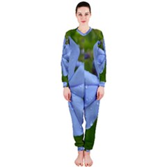 Blue Water Droplets Onepiece Jumpsuit (ladies)