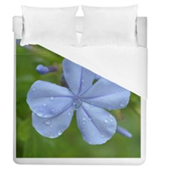Blue Water Droplets Duvet Cover Single Side (full/queen Size)