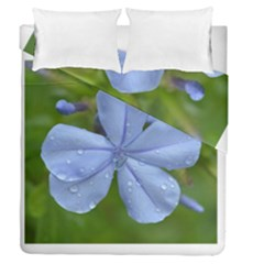 Blue Water Droplets Duvet Cover (full/queen Size)