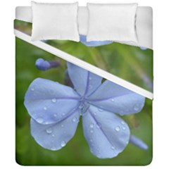 Blue Water Droplets Duvet Cover (double Size)