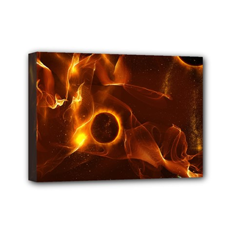 Fire And Flames In The Universe Mini Canvas 7  X 5