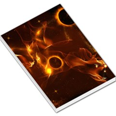Fire And Flames In The Universe Large Memo Pads