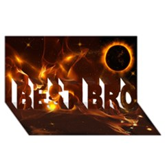 Fire And Flames In The Universe Best Bro 3d Greeting Card (8x4)