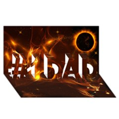 Fire And Flames In The Universe #1 DAD 3D Greeting Card (8x4)