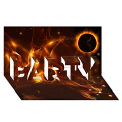 Fire And Flames In The Universe PARTY 3D Greeting Card (8x4)