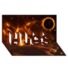 Fire And Flames In The Universe Hugs 3d Greeting Card (8x4)