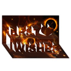 Fire And Flames In The Universe Best Wish 3D Greeting Card (8x4)