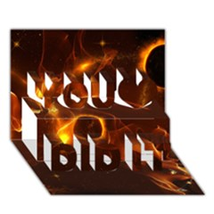 Fire And Flames In The Universe You Did It 3d Greeting Card (7x5)