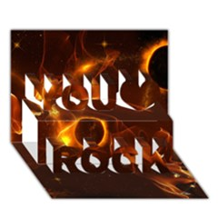 Fire And Flames In The Universe You Rock 3D Greeting Card (7x5)