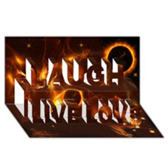 Fire And Flames In The Universe Laugh Live Love 3D Greeting Card (8x4)