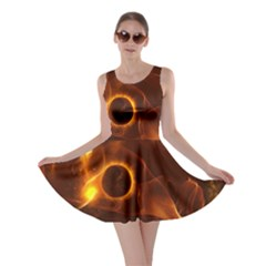 Fire And Flames In The Universe Skater Dresses