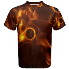 Fire And Flames In The Universe Men s Cotton Tees