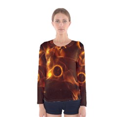 Fire And Flames In The Universe Women s Long Sleeve T-shirts
