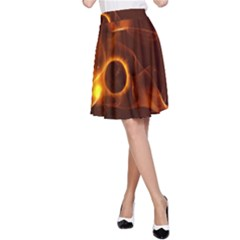 Fire And Flames In The Universe A-Line Skirts