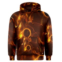 Fire And Flames In The Universe Men s Pullover Hoodies