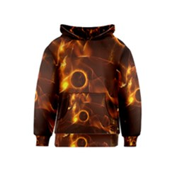 Fire And Flames In The Universe Kid s Pullover Hoodies