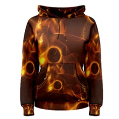 Fire And Flames In The Universe Women s Pullover Hoodies