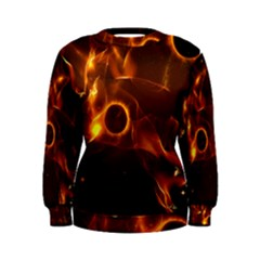 Fire And Flames In The Universe Women s Sweatshirts