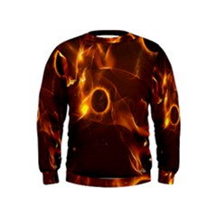 Fire And Flames In The Universe Boys  Sweatshirts