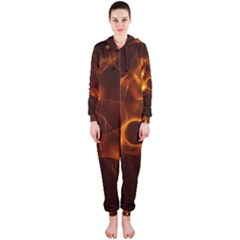 Fire And Flames In The Universe Hooded Jumpsuit (Ladies)