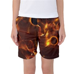 Fire And Flames In The Universe Women s Basketball Shorts