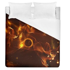 Fire And Flames In The Universe Duvet Cover Single Side (full/queen Size)