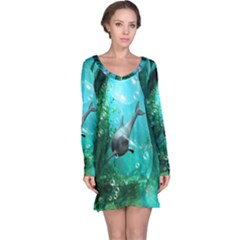 Wonderful Dolphin Long Sleeve Nightdresses