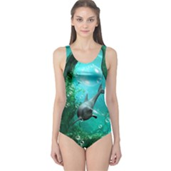 Wonderful Dolphin Women s One Piece Swimsuits