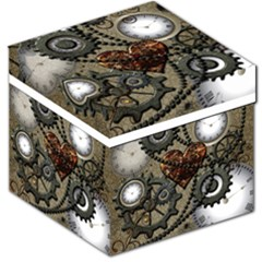 Steampunk With Heart Storage Stool 12