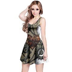 Steampunk With Heart Reversible Sleeveless Dresses
