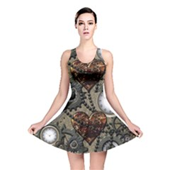 Steampunk With Heart Reversible Skater Dresses