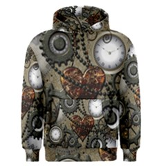 Steampunk With Heart Men s Pullover Hoodies
