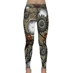 Steampunk With Heart Yoga Leggings