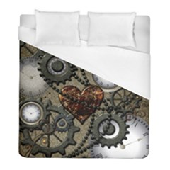 Steampunk With Heart Duvet Cover Single Side (twin Size)