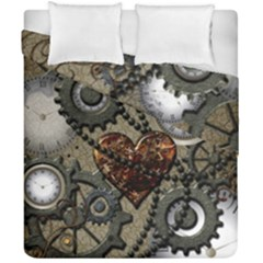 Steampunk With Heart Duvet Cover (double Size)
